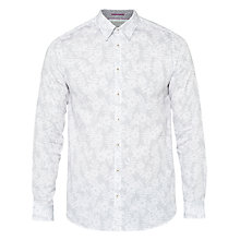 Buy Ted Baker T for Tall Twott Spotted Floral Shirt, White Online at johnlewis.com