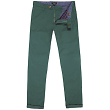 Buy Ted Baker Sorcor Slim Fit Cotton Chinos, Sage Online at johnlewis.com