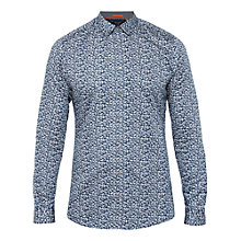 Buy Ted Baker T for Tall Jazfltt Long Sleeve Shirt, Navy Online at johnlewis.com