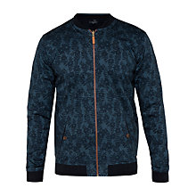 Buy Ted Baker T for Tall Cartwtt Floral Reversible Bomber Jacket, Navy Online at johnlewis.com