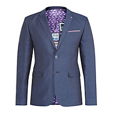 Buy Ted Baker T for Tall Pingtt Linen Herringbone Blazer Jacket, Navy Online at johnlewis.com