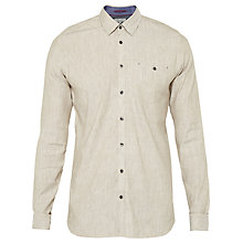 Buy Ted Baker T for Tall Newltt Shirt, Natural Online at johnlewis.com