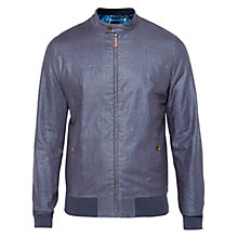 Buy Ted Baker T for Tall Rydett Coated Bomber Jacket, Navy Online at johnlewis.com
