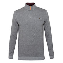Buy Ted Baker T for Tall Zaytt Quilted Jumper, Charcoal Online at johnlewis.com