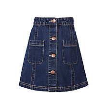 Buy John Lewis Girls' Denim Skirt, Blue Online at johnlewis.com
