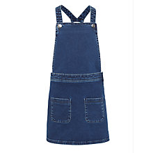 Buy John Lewis Girls' Denim Pinafore Dress, Blue Online at johnlewis.com