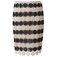Buy L.K. Bennett Claudine Crochet Skirt, Black/Cream Online at johnlewis.com