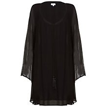 Buy Ghost Kara Tunic Dress, Black Online at johnlewis.com