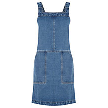 Buy Oasis Darcy Denim Dungaree Dress, Blue Online at johnlewis.com