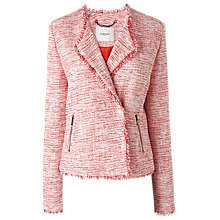 Buy L.K. Bennett Lola Frayed Tweed Jacket, Red Online at johnlewis.com