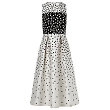 Buy L.K. Bennett Frankie Polka Dot Dress, Black/Cream Online at johnlewis.com