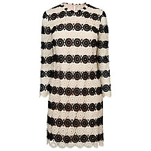 Buy L.K. Bennett Claudine Crochet Shift Dress, Black/Cream Online at johnlewis.com