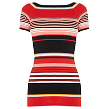 Buy Oasis Riveria Stripe Square Neck Top, Multi Online at johnlewis.com