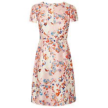 Buy L.K. Bennett Tia Diamond Flower Dress, Peach Online at johnlewis.com
