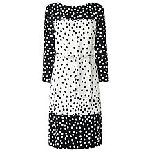 Buy L.K. Bennett Gina Polka Dot Dress, Black/Cream Online at johnlewis.com