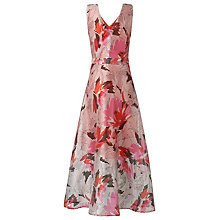 Buy L.K. Bennett Prula Graphic Floral Dress, Peach Online at johnlewis.com