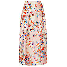 Buy L.K. Bennett Tiara Floral Diamond Skirt, Pastel Peach Online at johnlewis.com