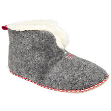 Buy John Lewis Children's Felt Bootie Slippers, Grey Online at johnlewis.com