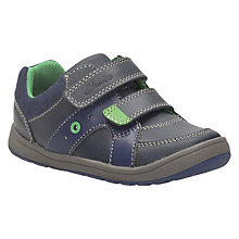 Buy Clarks Children's Maltby Pop Leather Shoes, Navy Online at johnlewis.com