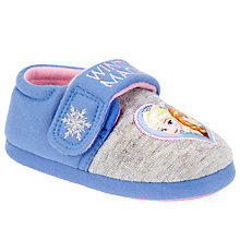 Buy Frozen Baby Riptape Slippers, Grey/Blue Online at johnlewis.com