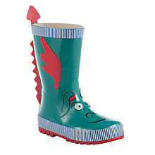 Buy John Lewis Children's 3D Dragon Wellington Boots, Green Online at johnlewis.com