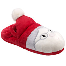 Buy John Lewis Children's Mr and Mrs Claus Slippers, Red Online at johnlewis.com