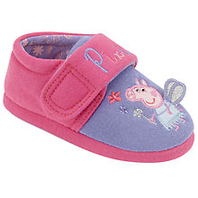 Buy Peppa Pig Pixie Slippers, Pink/Purple Online at johnlewis.com