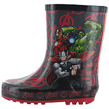 Buy Avengers Children's Wellington Boots, Grey/Red Online at johnlewis.com