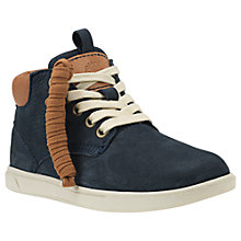 Buy Timberland Children's Groveton Chukka Lace Boots, Navy Online at johnlewis.com
