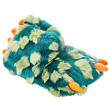 Buy John Lewis Children's Monster Claw Slippers, Green Online at johnlewis.com