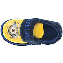 Buy Minions Baby Soft Strap Slippers, Navy/Yellow Online at johnlewis.com