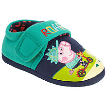 Buy Peppa Pig Scooter George Slippers, Navy/Green Online at johnlewis.com