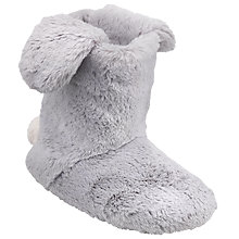 Buy John Lewis Children's Bunny Boot Slippers, Grey Online at johnlewis.com