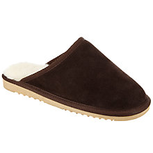 Buy John Lewis Children's Snuggle Suede Mule Slippers, Brown Online at johnlewis.com