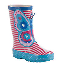 Buy John Lewis Children's 3D Butterfly Wellington Boots, Multi Online at johnlewis.com