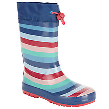 Buy John Lewis Children's Striped Topper Wellington Boots, Multi Online at johnlewis.com