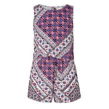 Buy John Lewis Girls' Festival Flippy Playsuit, Purple Online at johnlewis.com