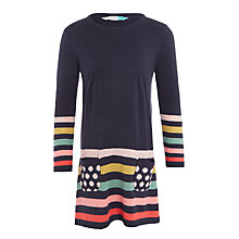 Buy John Lewis Girls' Stripe Knitted Dress, Navy Online at johnlewis.com