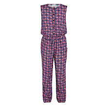 Buy John Lewis Girls' Multi Print Jumpsuit, Purple Online at johnlewis.com