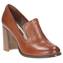 Buy Clarks V&A Cass Pop Block Heeled Court Shoes, Tan Online at johnlewis.com