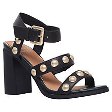 Buy KG by Kurt Geiger Nutty Studded Block Heeled Sandals, Black Online at johnlewis.com