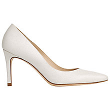 Buy L.K. Bennett Floret Pointed Court Shoes, Ivory Leather Online at johnlewis.com