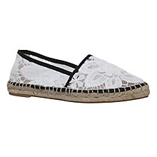Buy KG by Kurt Geiger Mitzy Espadrilles, White Online at johnlewis.com