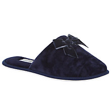 Buy John Lewis Bow Velvet Mule Slippers Online at johnlewis.com