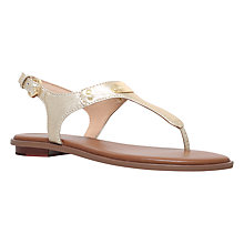 Buy MICHAEL Michael Kors Plate Toe Post Sandals, Gold Online at johnlewis.com