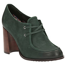 Buy Clarks V&A Cass Day Block Heeled Court Shoes, Dark Green Online at johnlewis.com