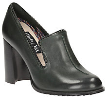Buy Clarks V&A Cass Pop Block Heeled Court Shoes, Dark Green Online at johnlewis.com