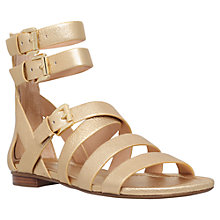Buy MICHAEL Michael Kors Jocelyn Multi Strap Sandals, Gold Online at johnlewis.com