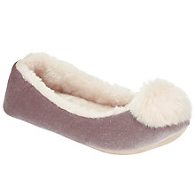 Buy John Lewis Tonal Pom Ballet Slippers Online at johnlewis.com