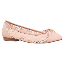 Buy KG by Kurt Geiger Latin Leather Ballerina Pumps Online at johnlewis.com